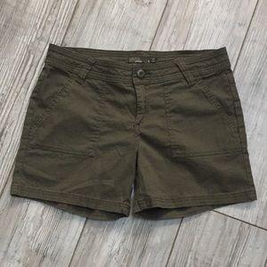 Prana  dark green shorts
